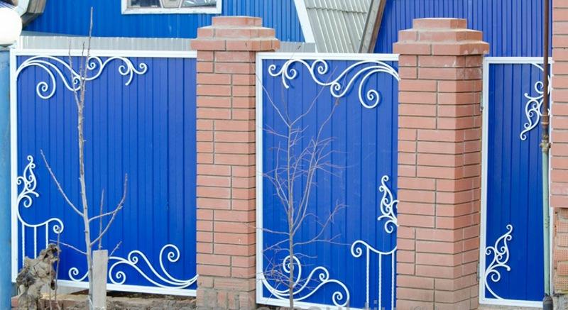 Как украсить ворота своими руками фото 119